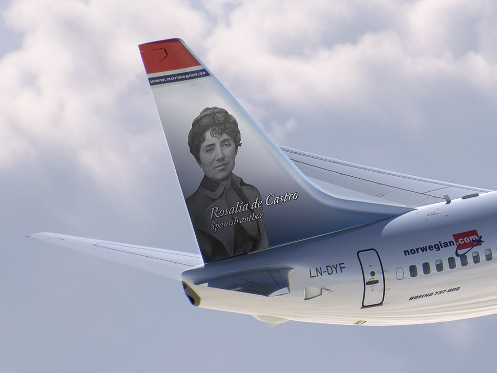 Rosalia de Castro - Boeing 737 Norwegian (cropped)