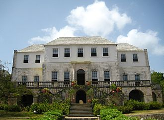Sugar plantations in the Caribbean - Rose Hall sugar plantation house, Jamaica