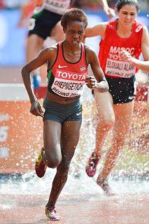 Rosefline Chepngetich Kenyan steeplechase runner