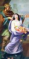 Roseline et son père Arnaud de Villeneuve, tableau de l'église Sainte-Roseline de Roquefort-la-Bédoule.jpg