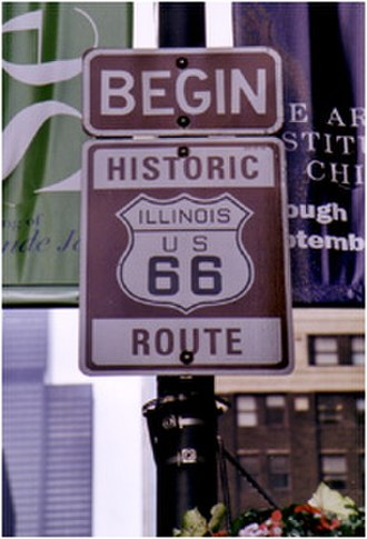 U.S. Route 66 - Modern 'historic' signage in Chicago