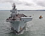Royal Navy Aircraft Carrier HMS Illustrious Returns To Portsmouth Folllowing Refit MOD 45152940.jpg