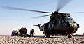 Royal Navy Sea King Mk 4 Helicopter on Resupply Mission to Forward Operating Base in Afghanistan MOD 45153256.jpg
