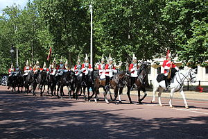 Queen's Guard - The mounted guard founded by the Household Cavalry is called the Queen's Life Guard