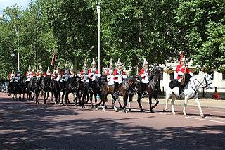 contingents of infantry and cavalry soldiers charged with guarding the official royal residences in the United Kingdom