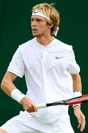 Andrey Rublev (tennis) - Rublev at the 2017 Wimbledon Championships