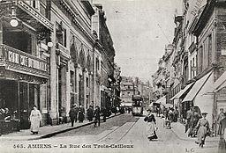 Rue des Trois Cailloux à Amiens avant 1914