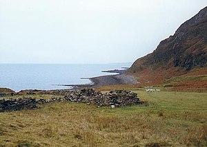Boreraig - Image: Ruined croft Boreraig, Skye geograph.org.uk 136318