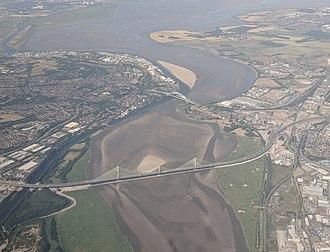 Mersey Gateway Bridge - Image: Runcorn bridges aerial