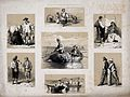 Rural life; seven scenes, including milking, gleaning, and f Wellcome V0025653.jpg