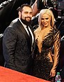 Rusev and Lana 2018 HOF.jpg