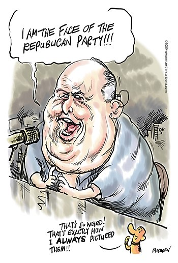 Rush Limbaugh Cartoon by Ian D. Marsden of mar...