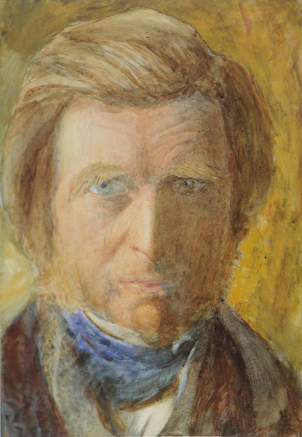 Ruskin Self Portrait with Blue Neckcloth