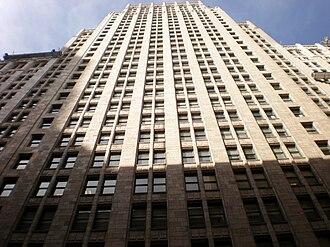 Eliel Saarinen's Tribune Tower design - Image: Russ Building front 1