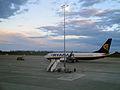 Ryanair am Flughafen Magdeburg-Cochstedt.JPG