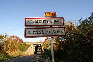 Saint-Jacut-les-Pins - The road into Saint-Jacut-les-Pins