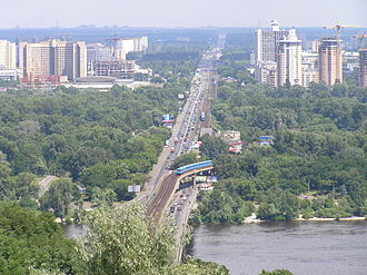 Kiev Metro - View of the left bank surface extension of the metro's Line 1.
