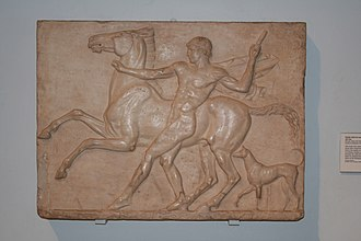 Charles Townley - A relief from Townley's collection, from Hadrian's Villa near Tivoli, ca. 125 AD.
