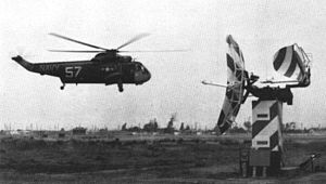Ground-controlled approach - A U.S. Navy Sea King makes a ground-controlled approach, 1964.