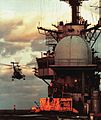 SH-3 Sea King over USS Guam (LPH-9) c1973.jpg