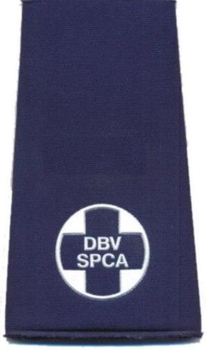 NSPCA - National Council of SPCAs - Image: SPCA Trainee Inspector Epaulette