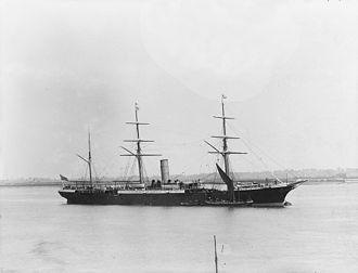New Zealand Shipping Company - SS Tongariro in 1883