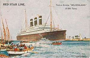 "Jazz in Belgium - The ""Belgenland"", a ship of the Red Star Line, was the scene of Belgian jazz performances"