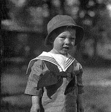 Boy In A Sailor Suit 1920 The Blue Helped Make Instead Of Pink Color For Boys 20th Century