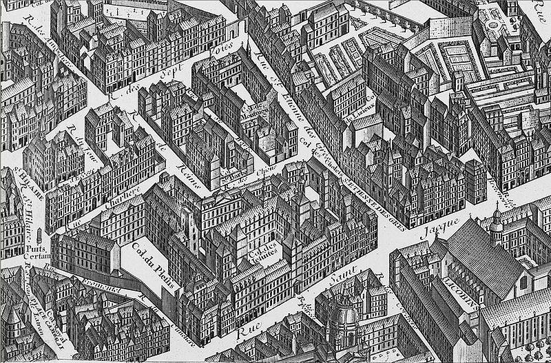 Fichier:Saint-Etienne-des-Grès on 1739 Turgot map Paris - KU 07.jpg