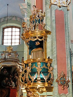 Saint Anne church in Lubartów - Pulpit - 01.jpg