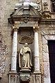 Saint Bernard of Clairvaux - Church entrance - Monastery of Poblet - Catalonia 2014.jpg