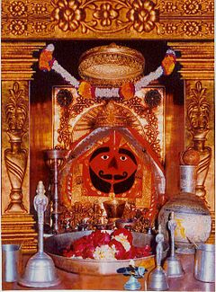 Idol of Balaji in Salasar Balaji temple