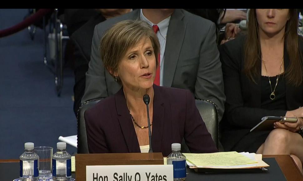 Sally Q Yates testifying