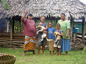 A Samoan family.