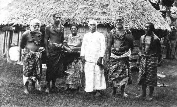 Samoan Paramount chief Mataafa & group 1902