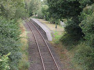Sampford Courtenay railway station Railway station in Devon, England