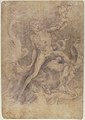 Samson Slaying the Philistine, after Michelangelo (recto); Figure of Fury, after Rosso Fiorentino (verso) MET 80.3.301 VERSO.jpg