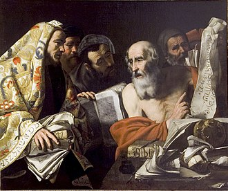 Hendrick de Somer - St. Jerome and the Sadducees