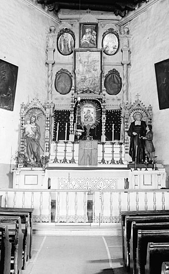 San Miguel Mission - Image: San Miguel altar