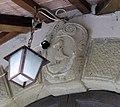San piero in mercato, ingresso chiostro, stemma monaldi.JPG
