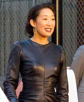 Sandra Oh - Oh at the presentation of her star on Canada's Walk of Fame in 2011