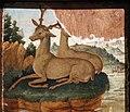 Sandro botticelli, giuditta con la testa di oloferne, sul retro una composizione araldica con cervi e scimmia, 1470 ca. 03.jpg