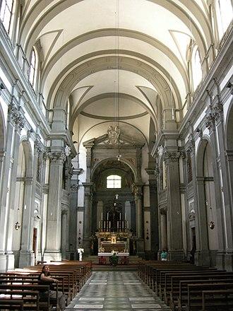 Santa Felicita, Florence - Interior of the church