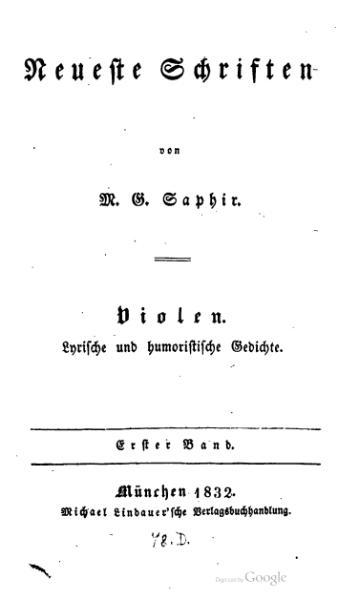 File:Saphir Violen Gedichte ernsten Inhalts.djvu