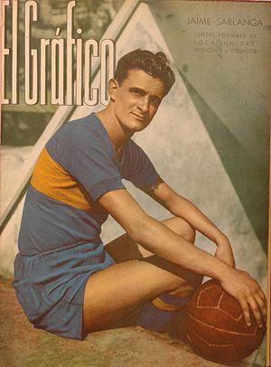 Jaime Sarlanga - Sarlanga with Boca Juniors in 1940.