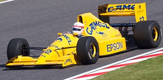 Nakajima demonstrating his Lotus 101 from 1989 at the 2011 Japanese Grand Prix. Satoru Nakajima demonstrating Lotus 101 2011 Japan.jpg