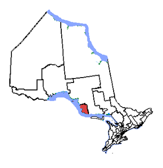 Sault Ste. Marie (electoral district) - Sault Ste. Marie in relation to other northern Ontario electoral districts (2003 boundaries)