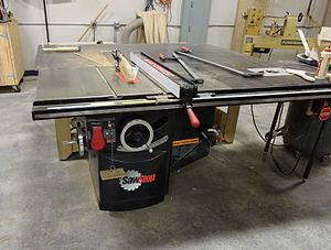 TechShop - SawStop brand table saw used at TechShop in Redwood City California