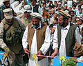 Sayeed Rahman cuts ribbon at school opening, Pachir District, Nangarhar, Afghanistan.jpg
