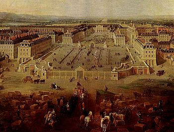 Versailles Palace (painting from 1722)